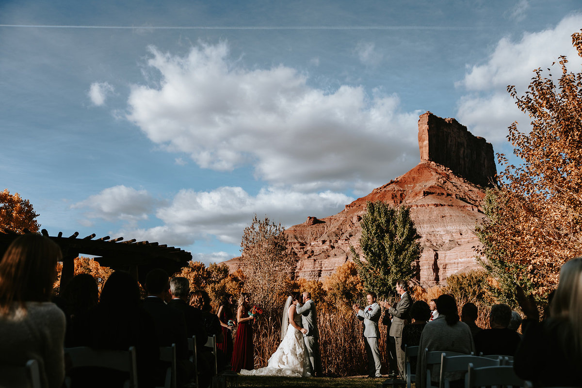 wedding ceremony in Gateway Colorado