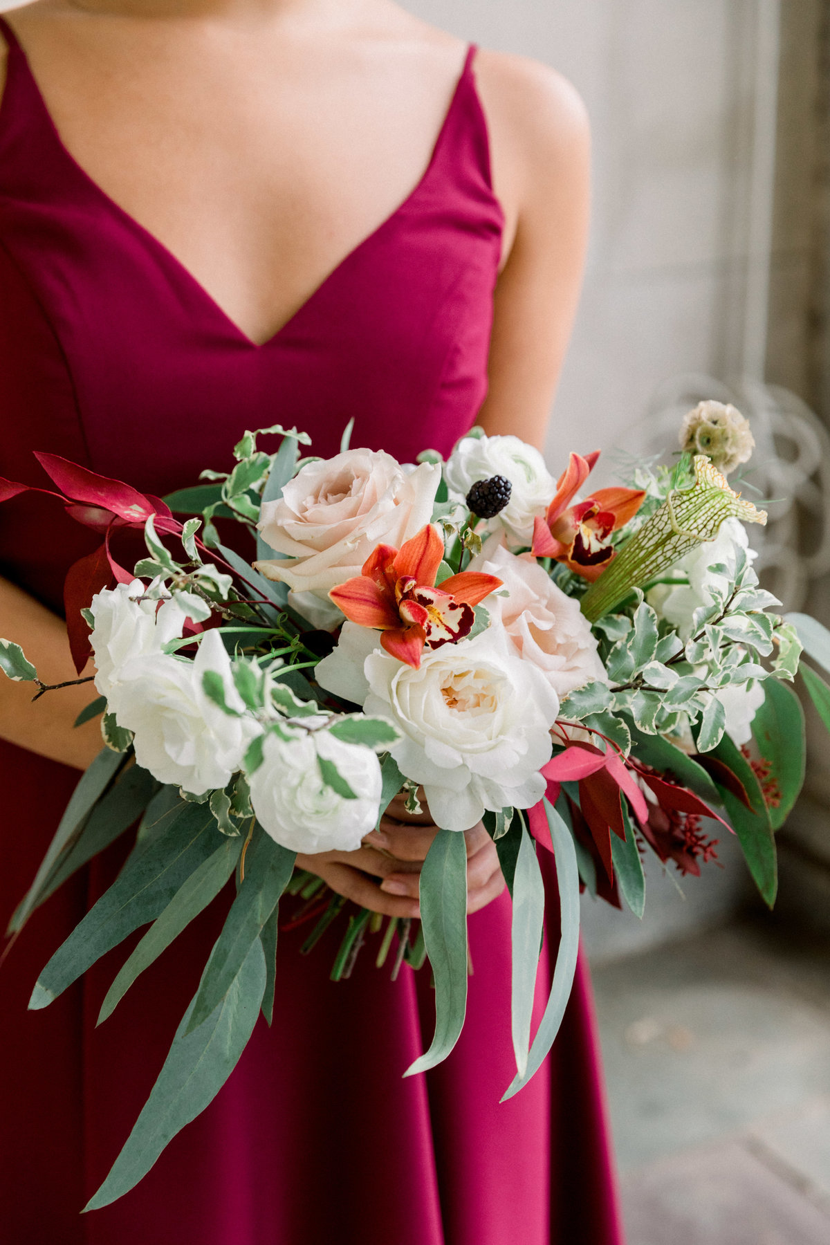 bridesmaid bouquet Winterthur wedding florist