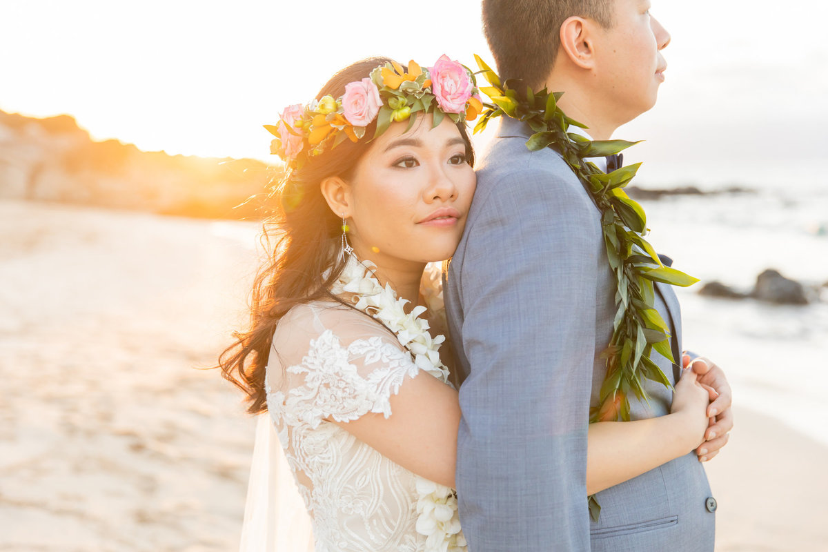 Maui wedding photography hug