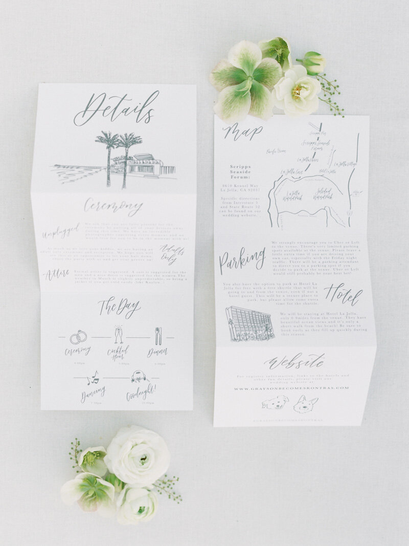 pirouettepaper.com | Wedding Stationery, Signage and Invitations | Pirouette Paper Company | Scripps Seaside Forum La Jolla Wedding | Savan Photography _ (15)