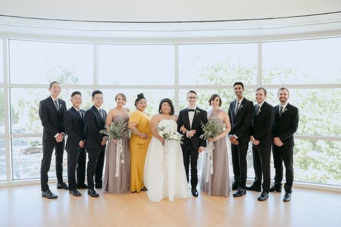 Sandy's Modern Wedding Wedding Party