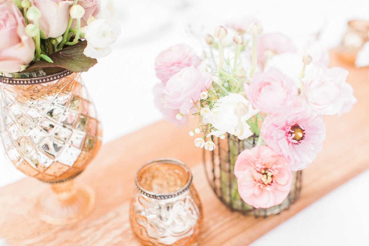 Blush Pink Ivory Rustic Wedding Floral