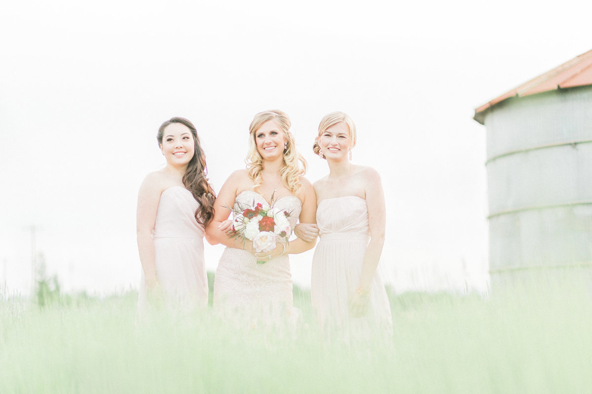 Blush Pink Marsala Bridesmaids