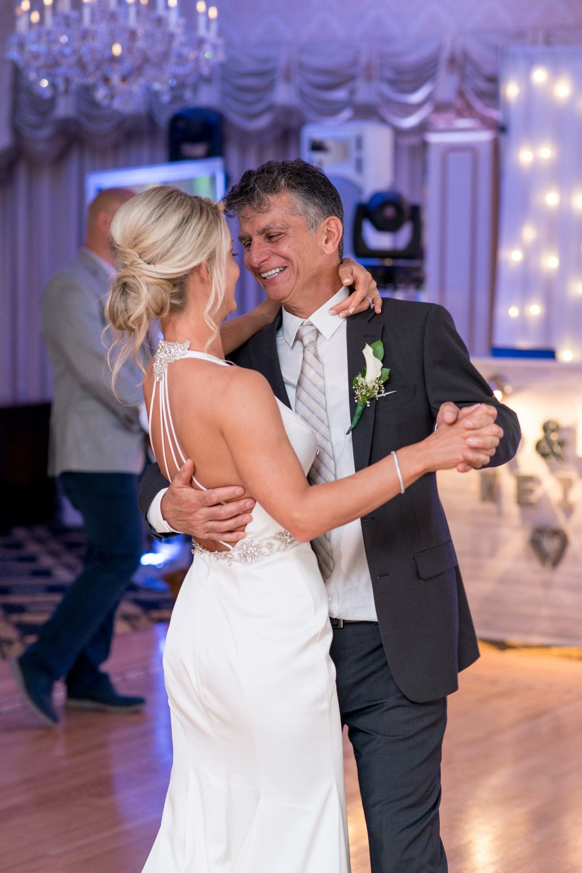 Bride and father dance at Giorgio's Baiting Hollow