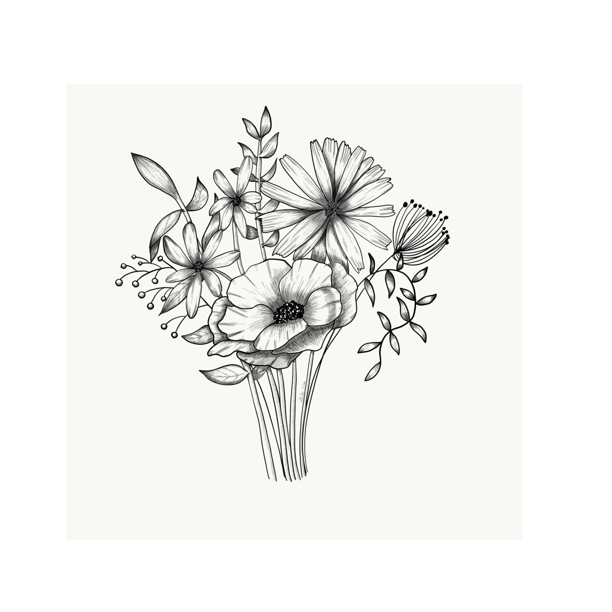 bouquet illustration ellila designs