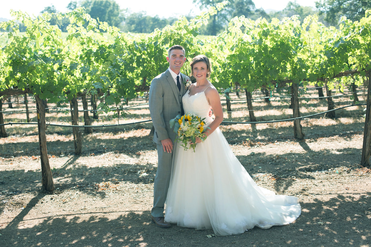 bride and groom vineyards, bride and groom wine country, wine country wedding