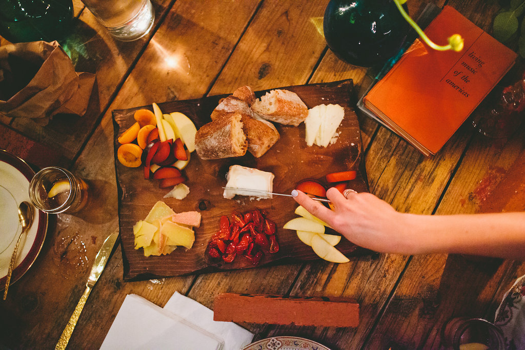 charcuterie and cheese board for dinner party with Local Table