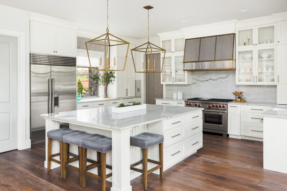 White kitchen design, home for sale Portland