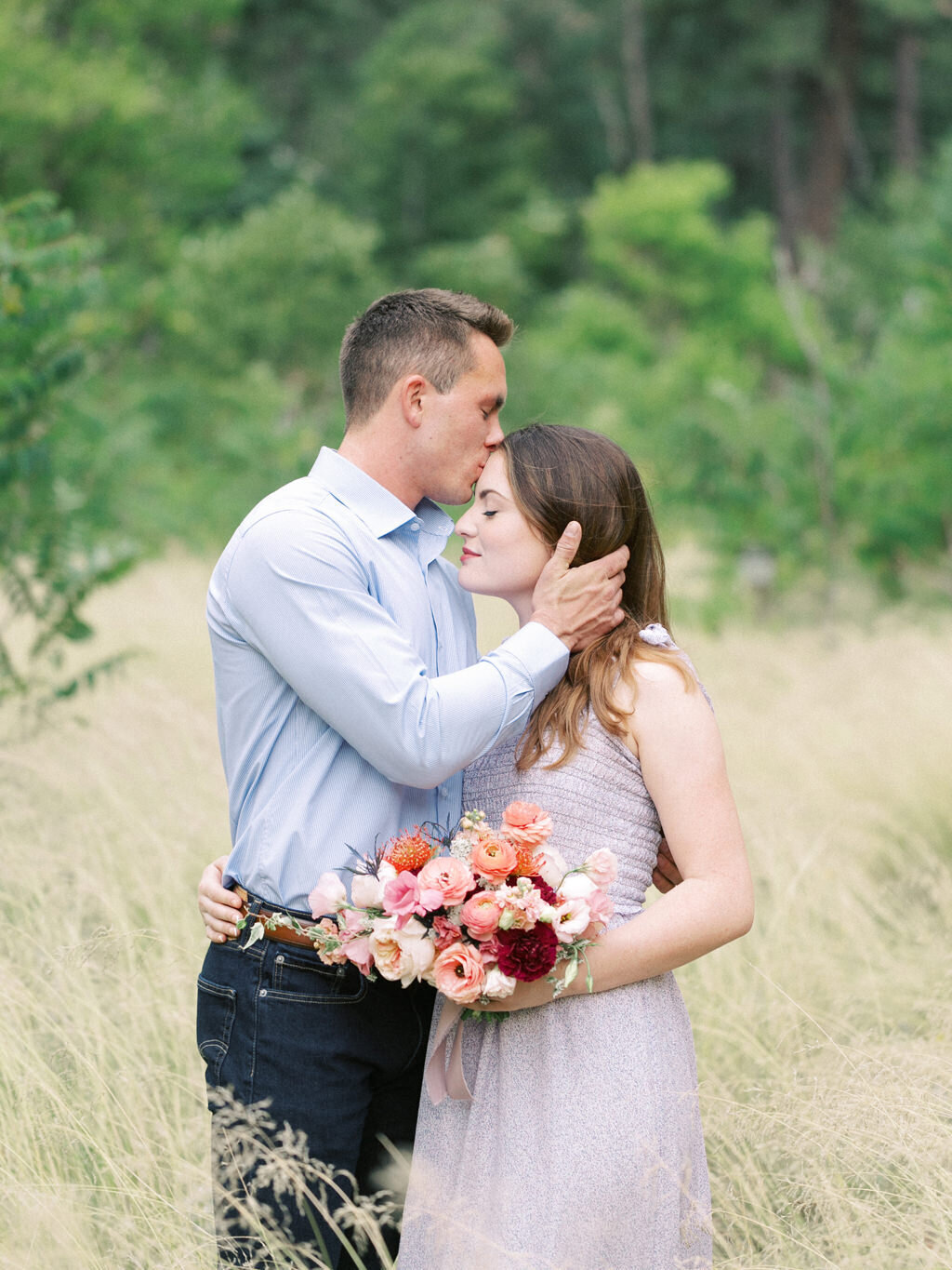 Aubrey & Joey Sedona West Fork Trail Fall Fine Art Engagement Session Ball Photo Co-21