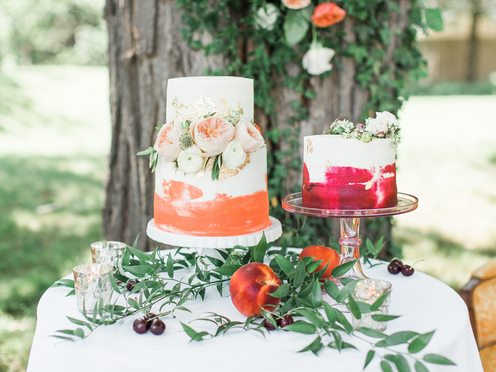 Whimsical Summer Wedding Styled Shoot at Henderson Castle Featured in WeddingDay Magazine Wedding Cake
