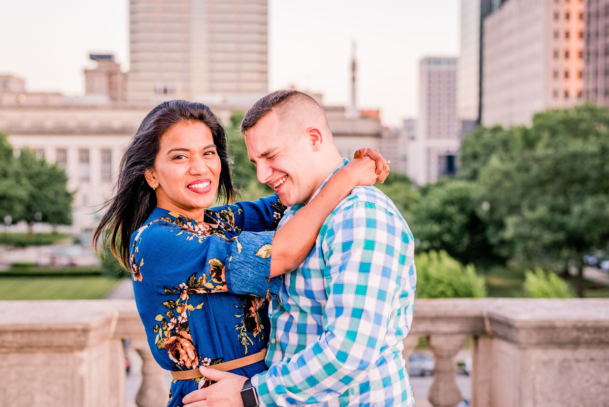 Engagement Photographer Couple Photographer Downtown Indianapolis Photographer-12