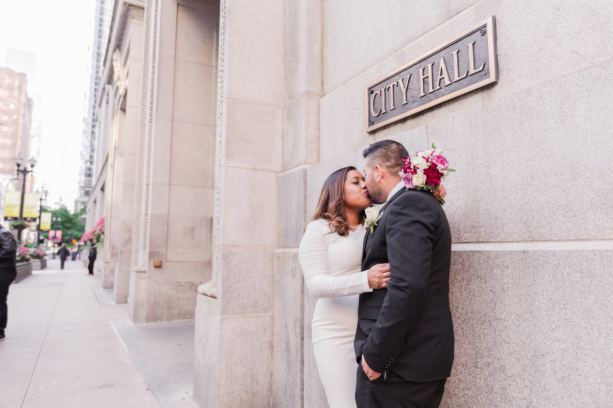Chicago Court House wedding, Bride and Groom  Formal Portraits Outside in Downtown Chicago, IL-20