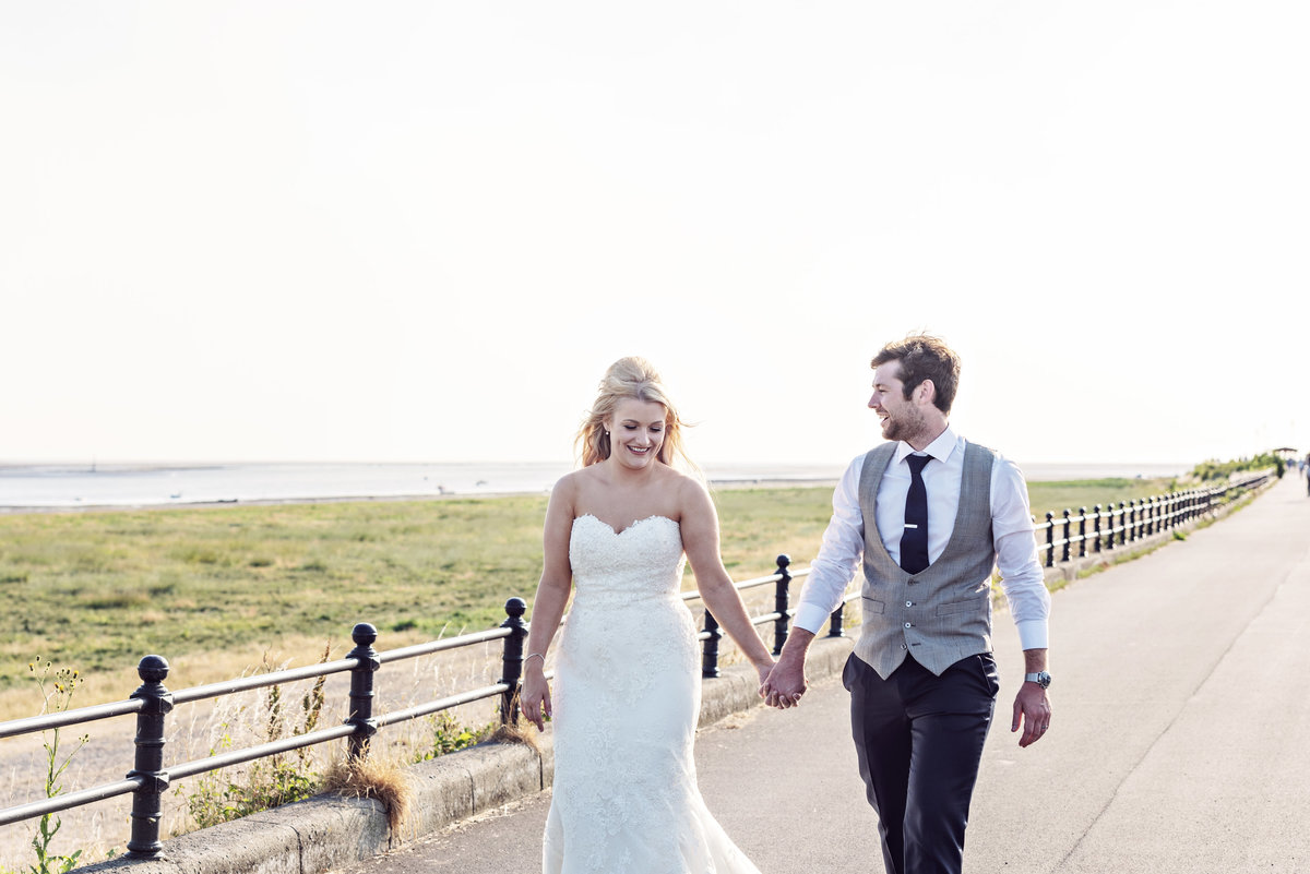 A Bride and Groom on the front of Lytham St Annes