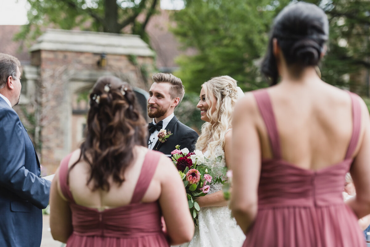 Meadow Brook Hall wedding at the historic mansion in Rochester, Michigan provided by Kari Dawson Photography