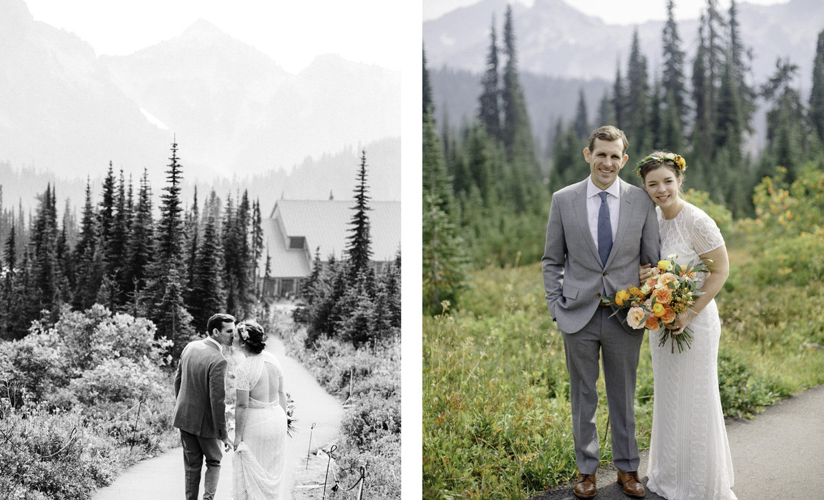classic wedding portraits at paradise on mount raininer