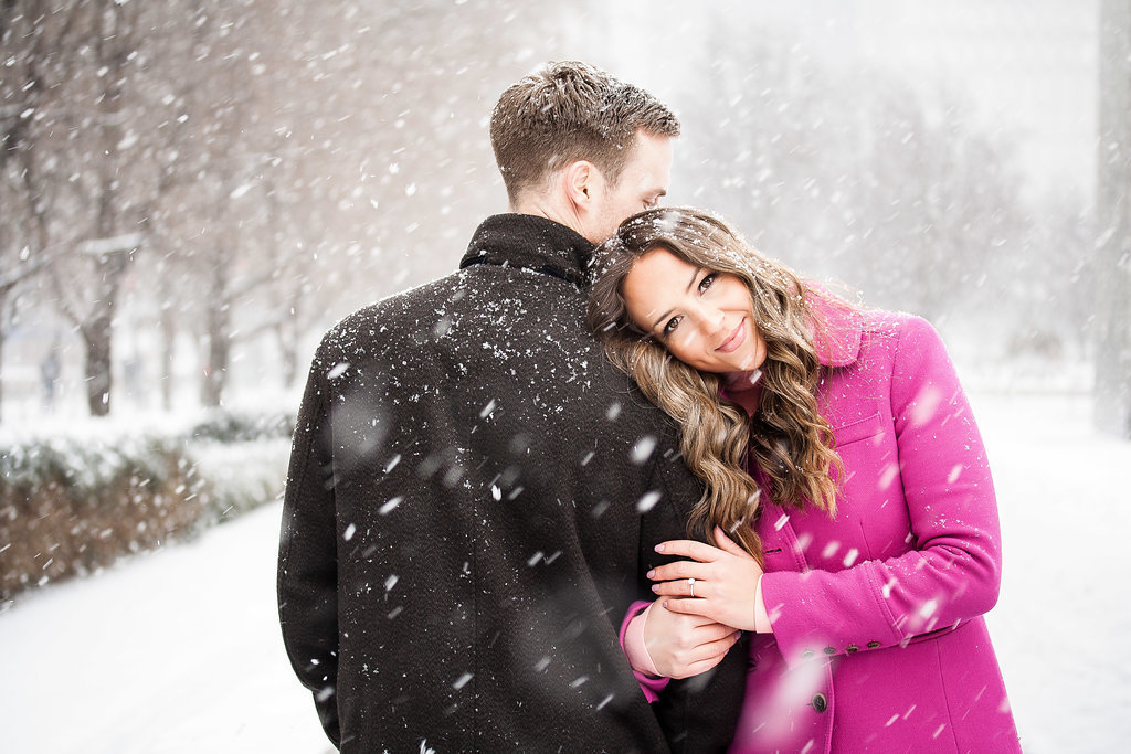 Millennium Park Chicago Illinois Winter Engagement Photographer Taylor Ingles 17