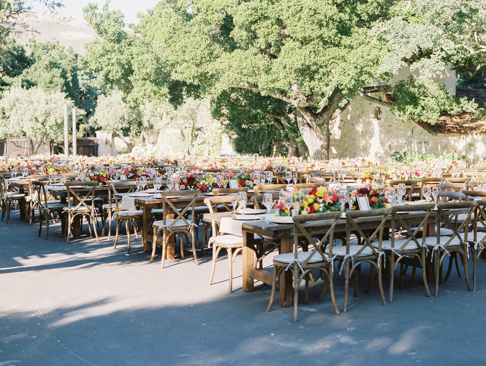 wedding reception space at holman ranch