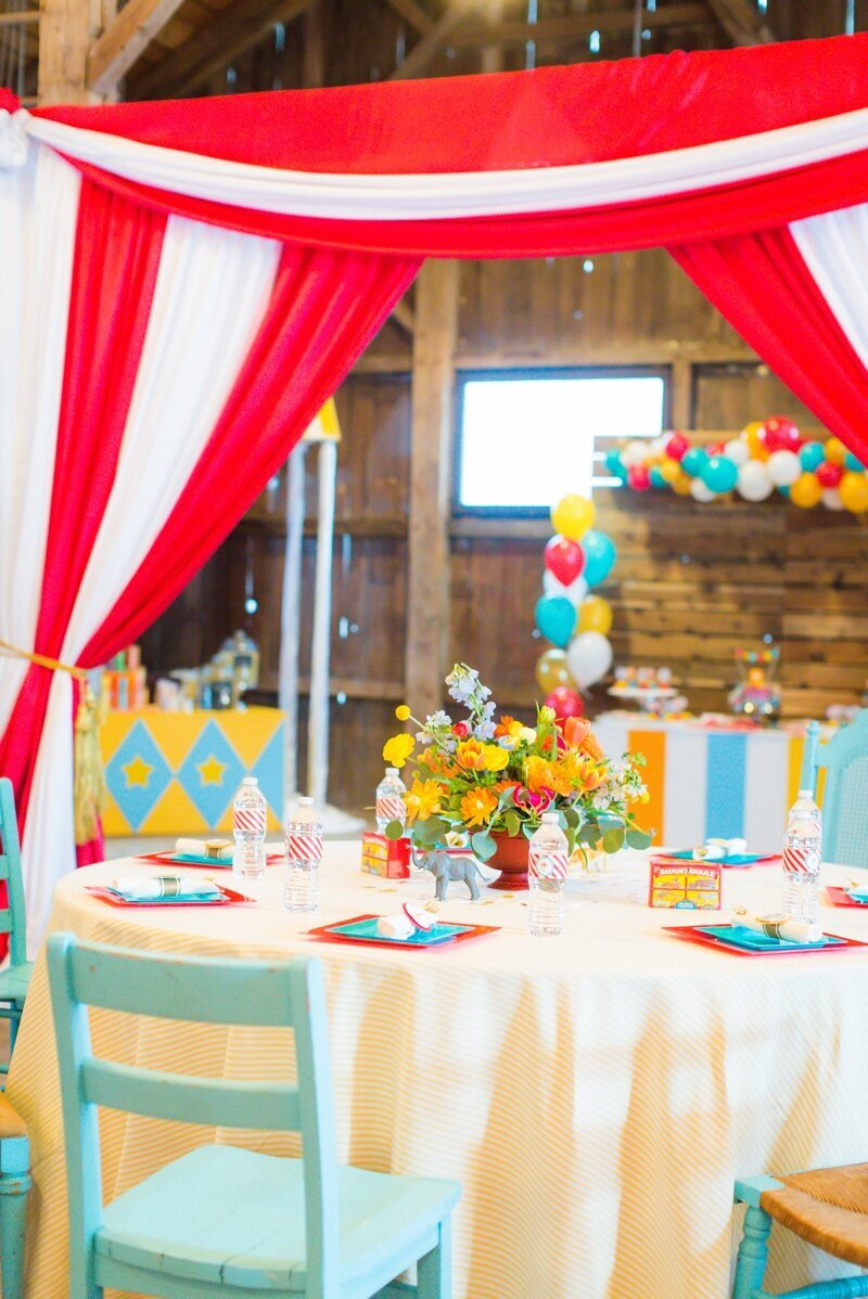 Circus Themed 1st Birthday Indianapolis Party Planner_0036