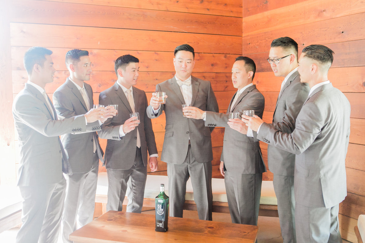 Wedding Day KaVaLan Whiskey Toast
