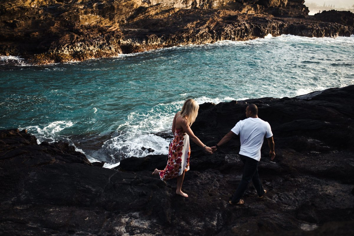 Eternity Beach Honolulu Hawaii Destination Engagement Session - 18