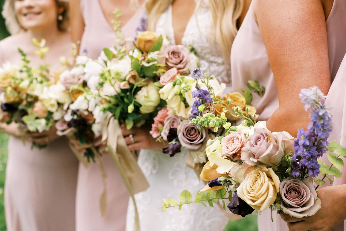 The Day's Design Traverse City Florist Bridesmaids Bouquets-min