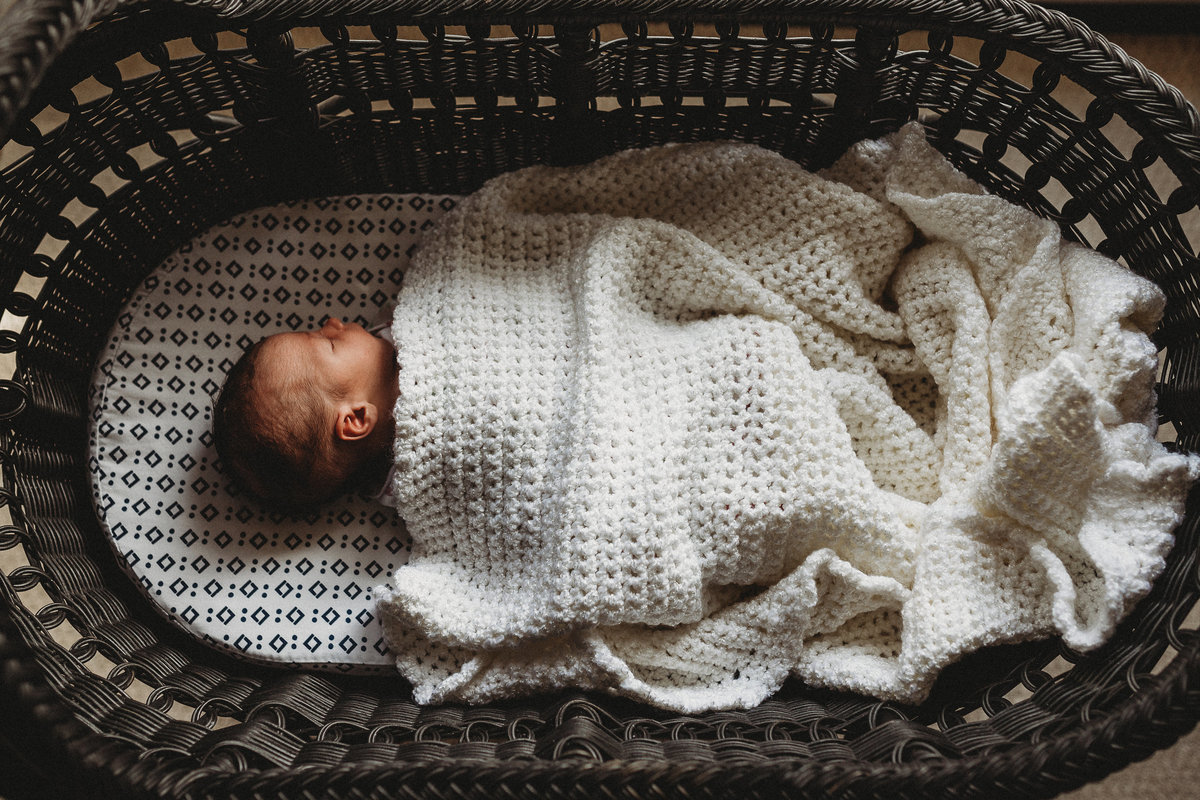 Orange county lifestyle newborn photography