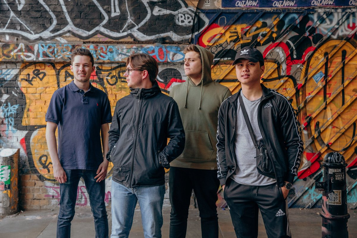RAMES stood under an archway in Shoreditch during their press shoot