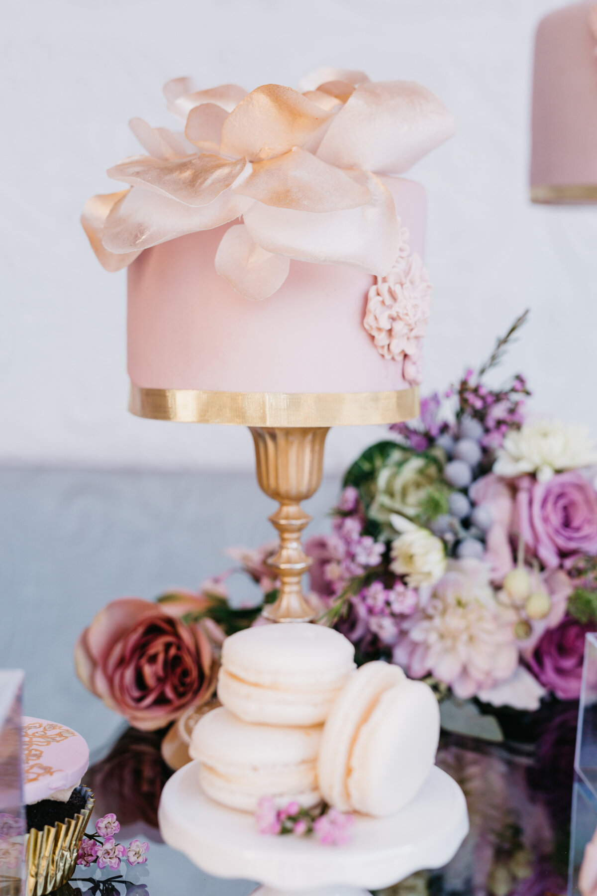 mauve-gold-cream-wedding-cake-(11)