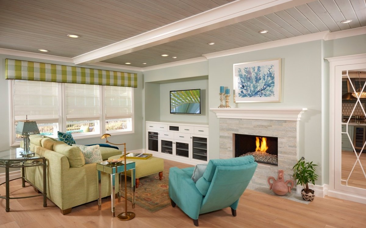 Family Den at the Beach Green Aqua