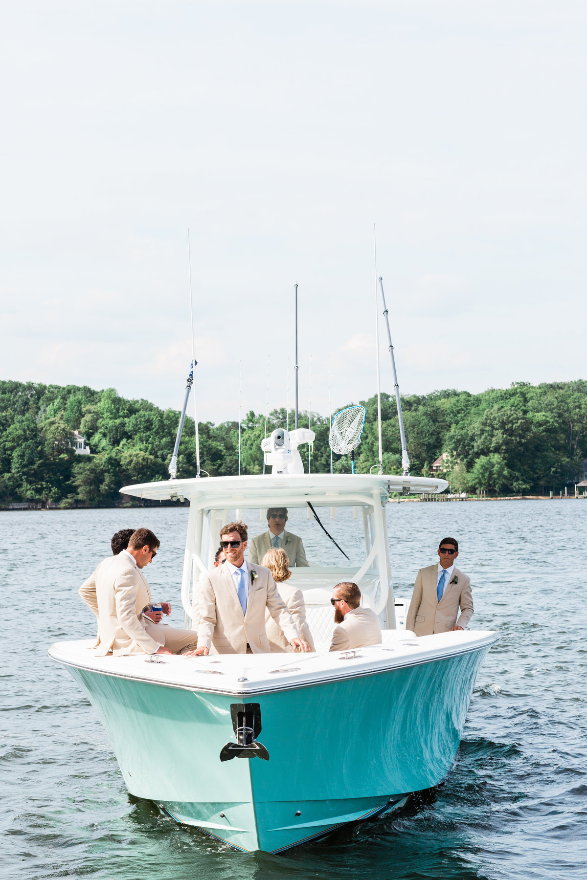Annapolis wedding groomsmen + sailing