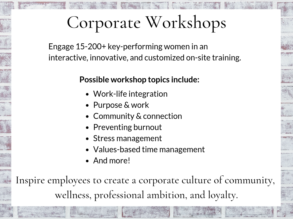 Corporate Workshops