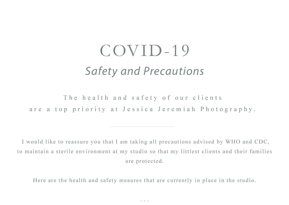 JJP Covid Studio Precautions Website