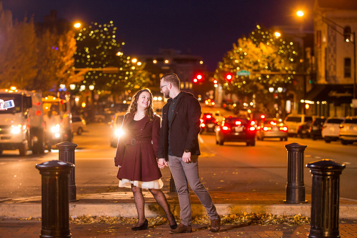 engagement photos in downtown athens broad street