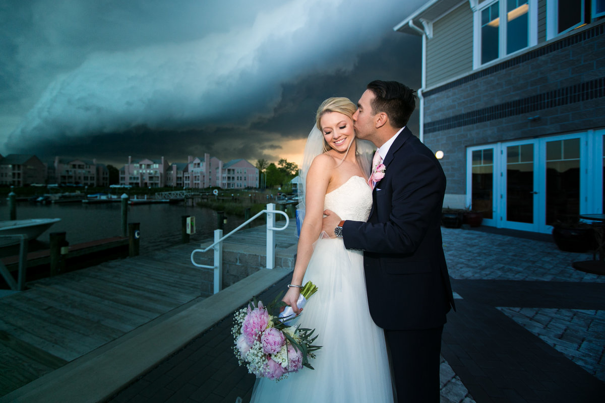 Crazy storm at the Ocean Pines Yacht Club wedding
