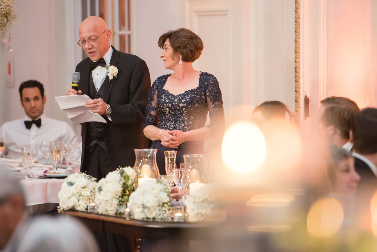 The Bourne Mansion wedding reception photos