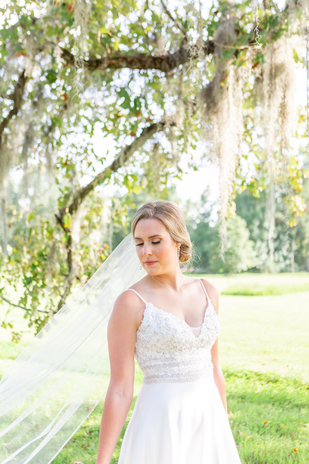 Bridal Portrait in Lush Outdoor Greemery