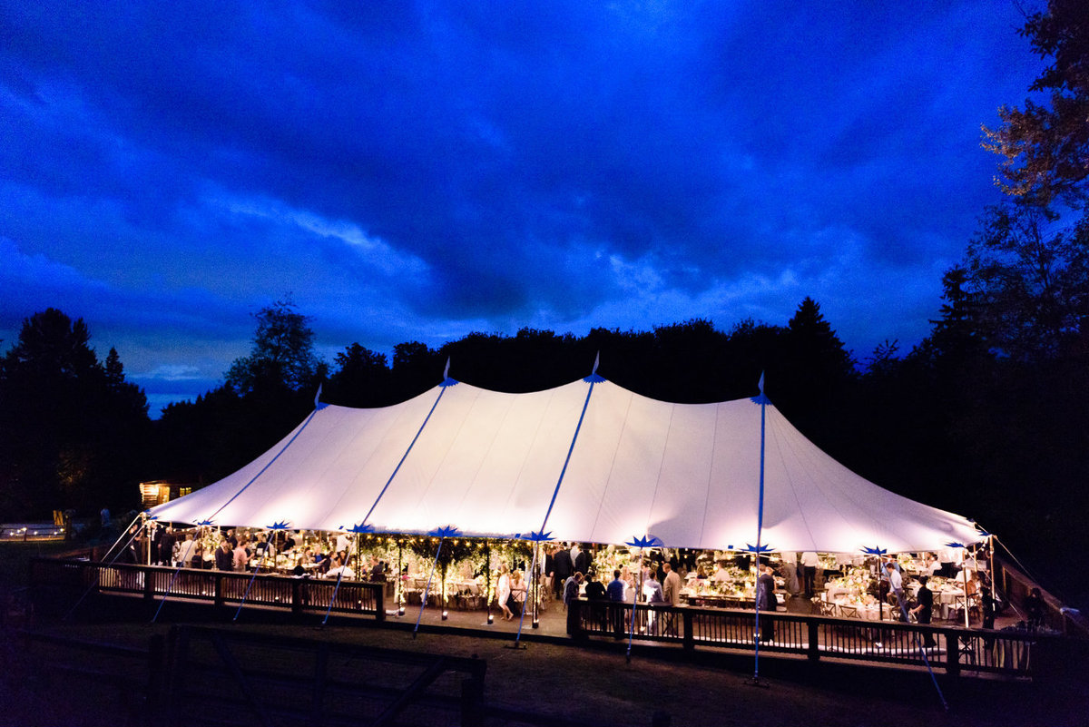 Beautiful Seattle tent wedding reception designed by Flora Nova Design.
