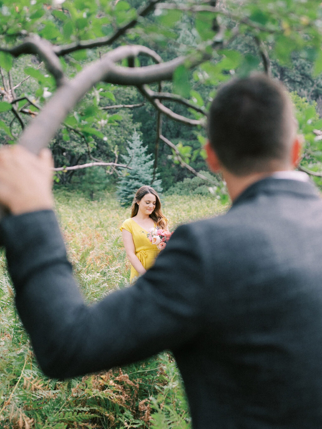 Aubrey & Joey Sedona West Fork Trail Fall Fine Art Engagement Session Ball Photo Co-11