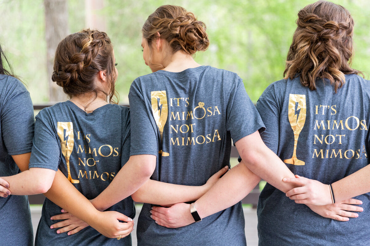 Fun Matching Bridesmaids Shirts for Wedding Day