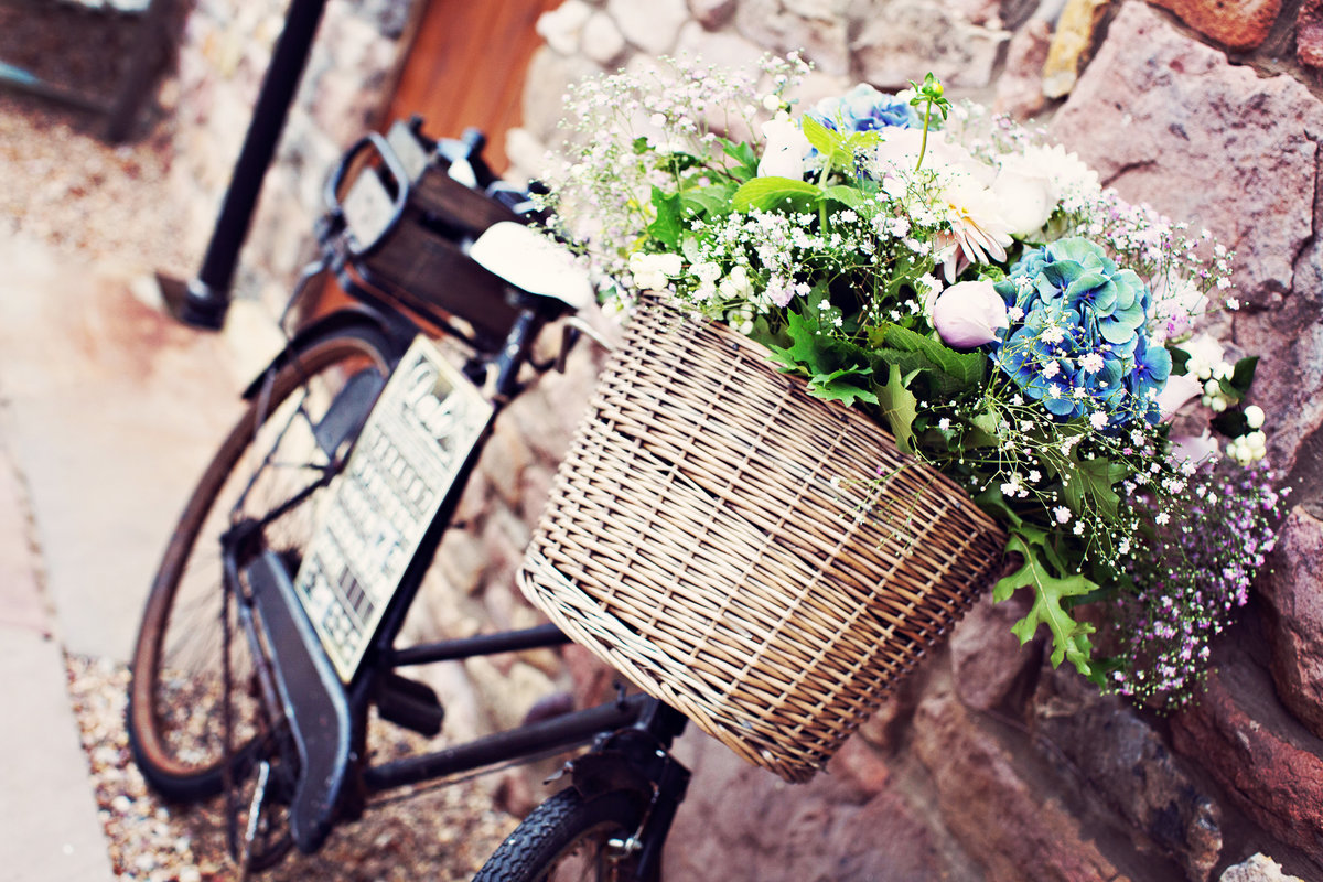 A Basket full of flowers at Askham Hall