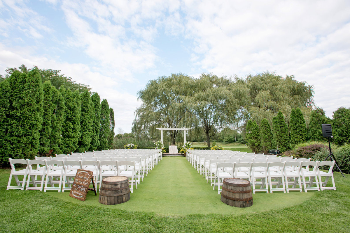 photo of ceremony set up at Willow Creek Golf and Country Club wedding