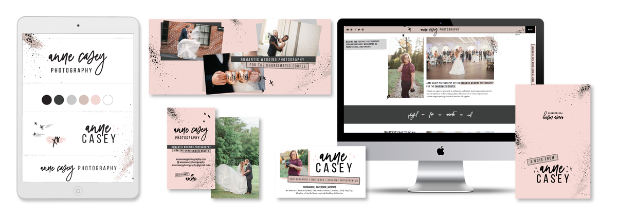 Brand and Showit Website Design for photographer Anne Casey Photography