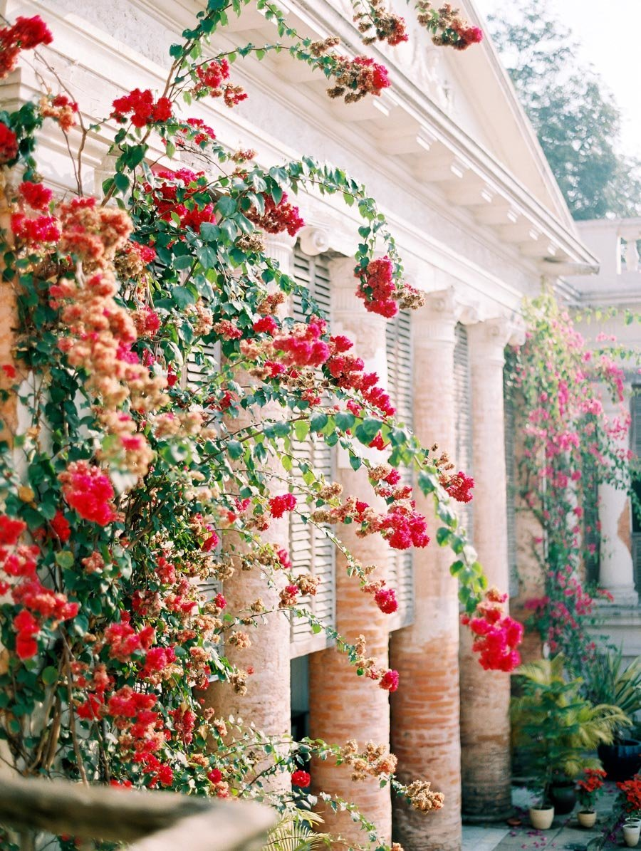 The Rajbari Bawali Hotel Calcutta India Bougainvillea Bonnie Sen Photography