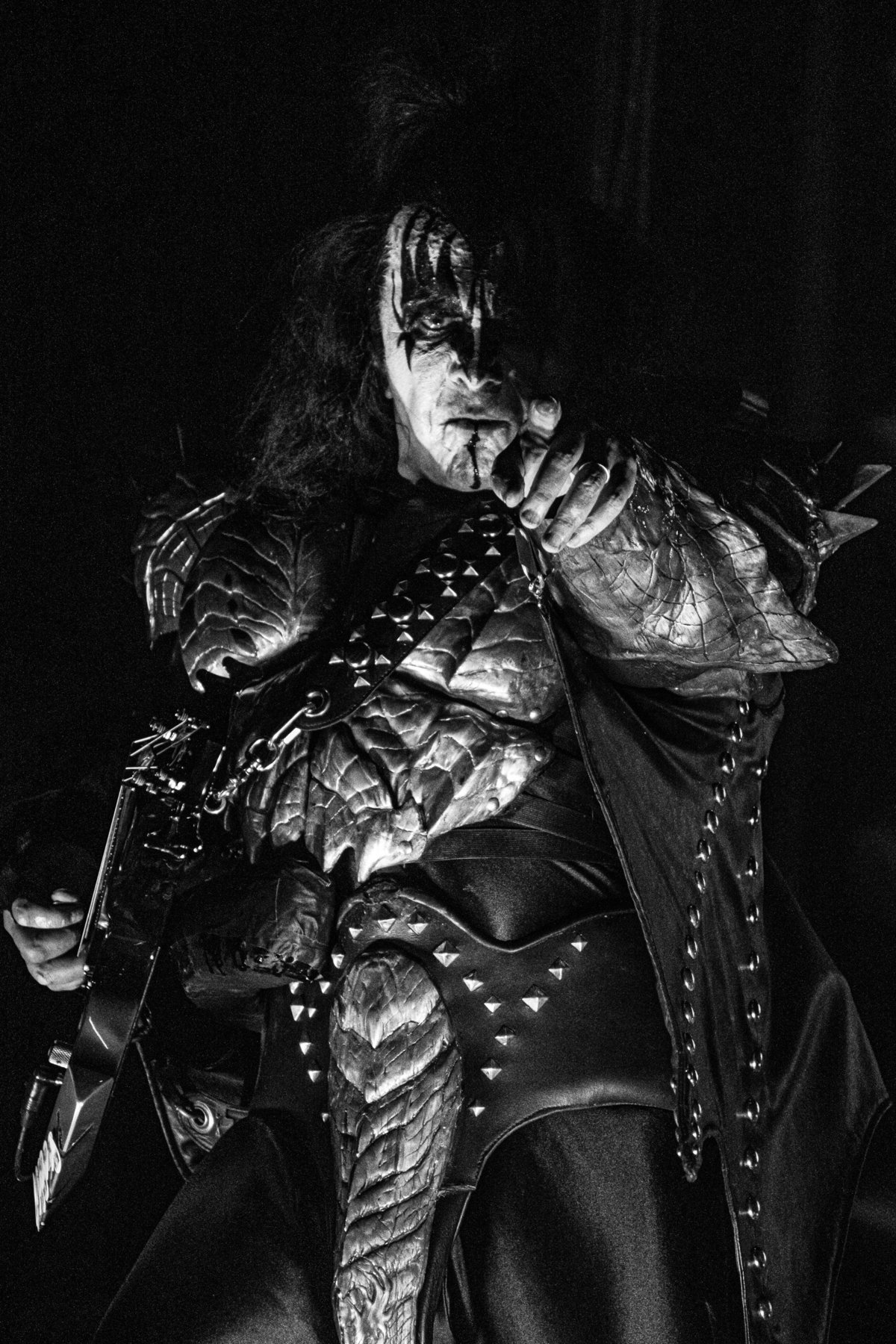 Gene Simmons of Kiss in concert