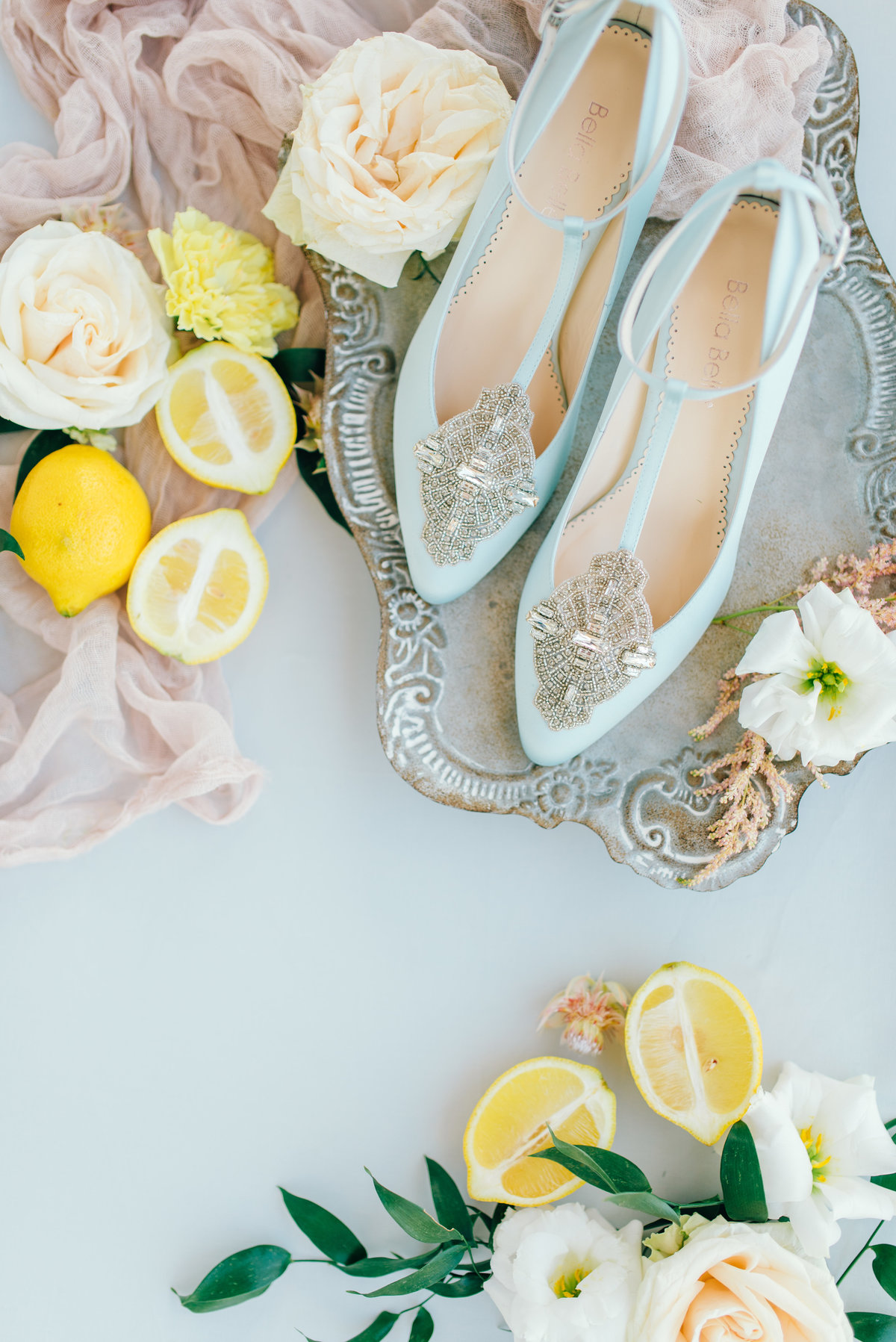bella belle bridal shoes with lemons