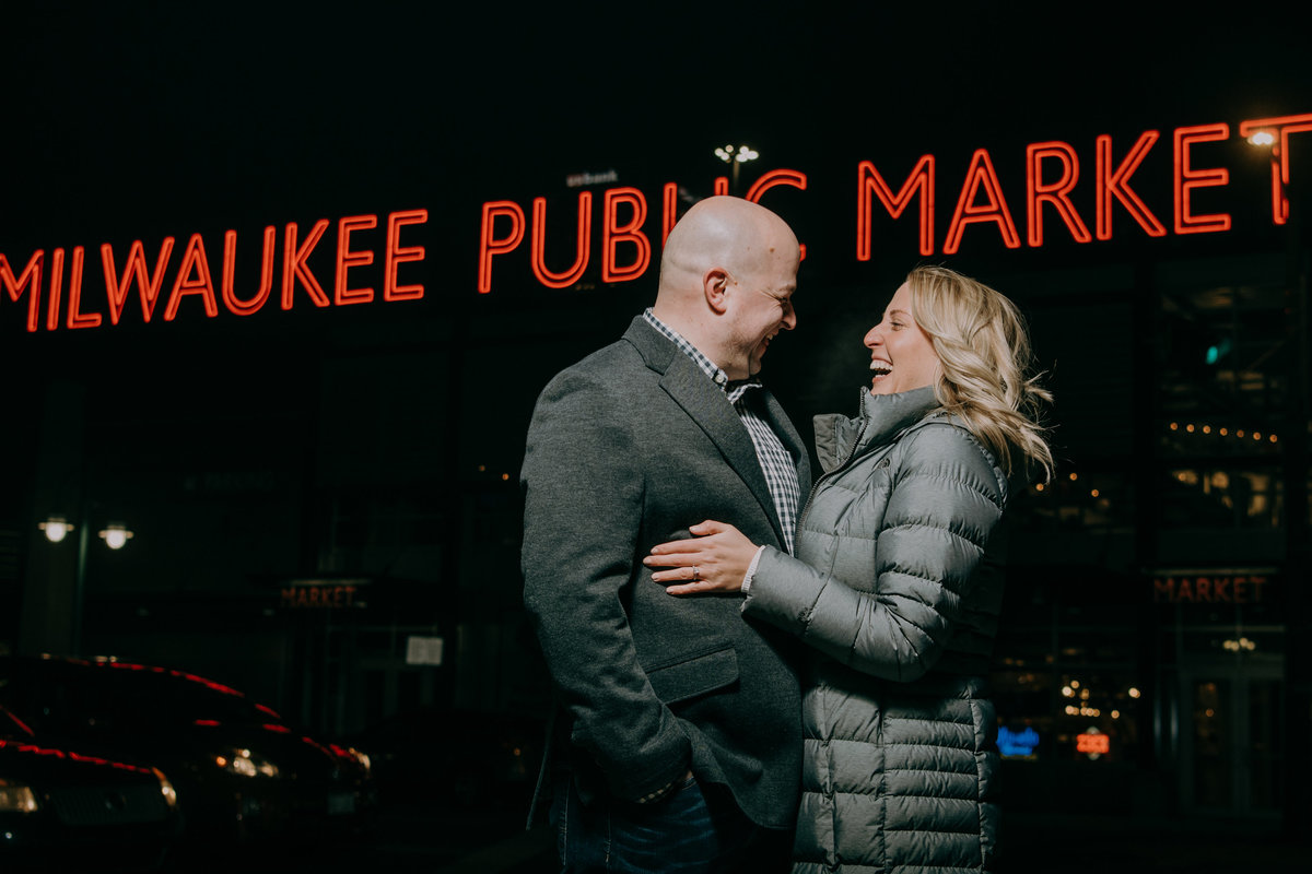 Leah Redmond Photography Wedding Couple Engagement Portrait Lifestyle Milwaukee Wisconsin Moody Natural Photographer Dark Architecture Architectural10