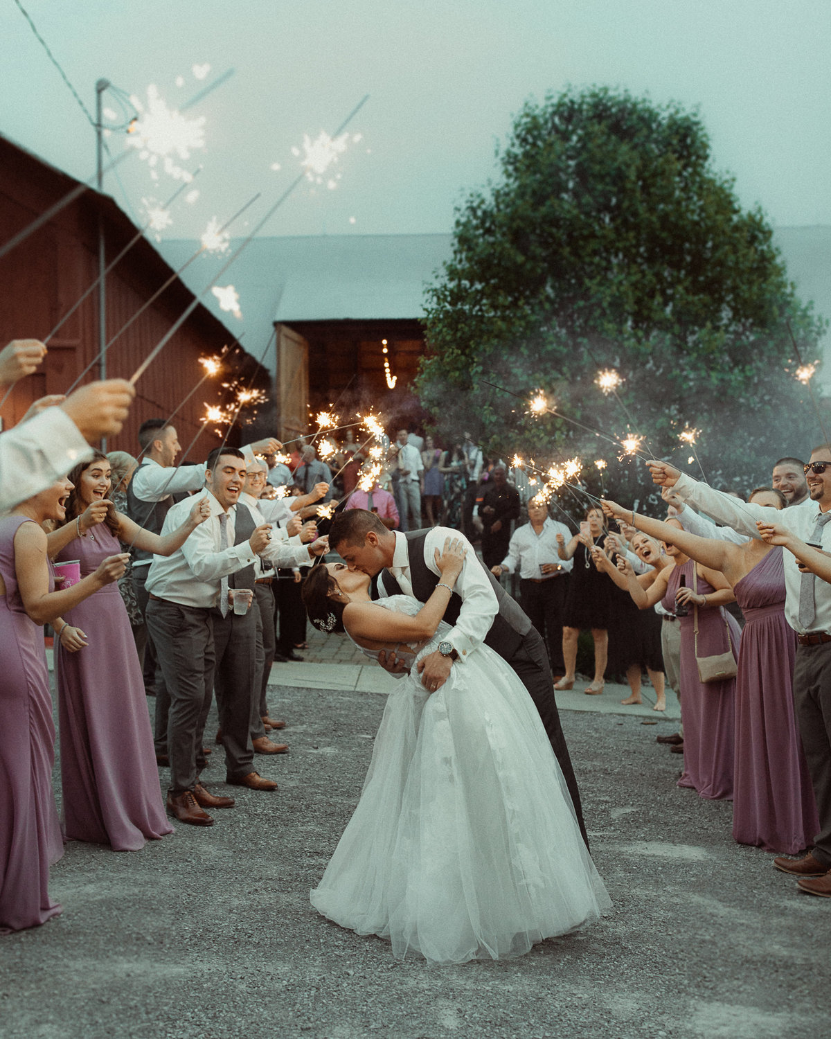 Sparkler Exit Photography by Bridget