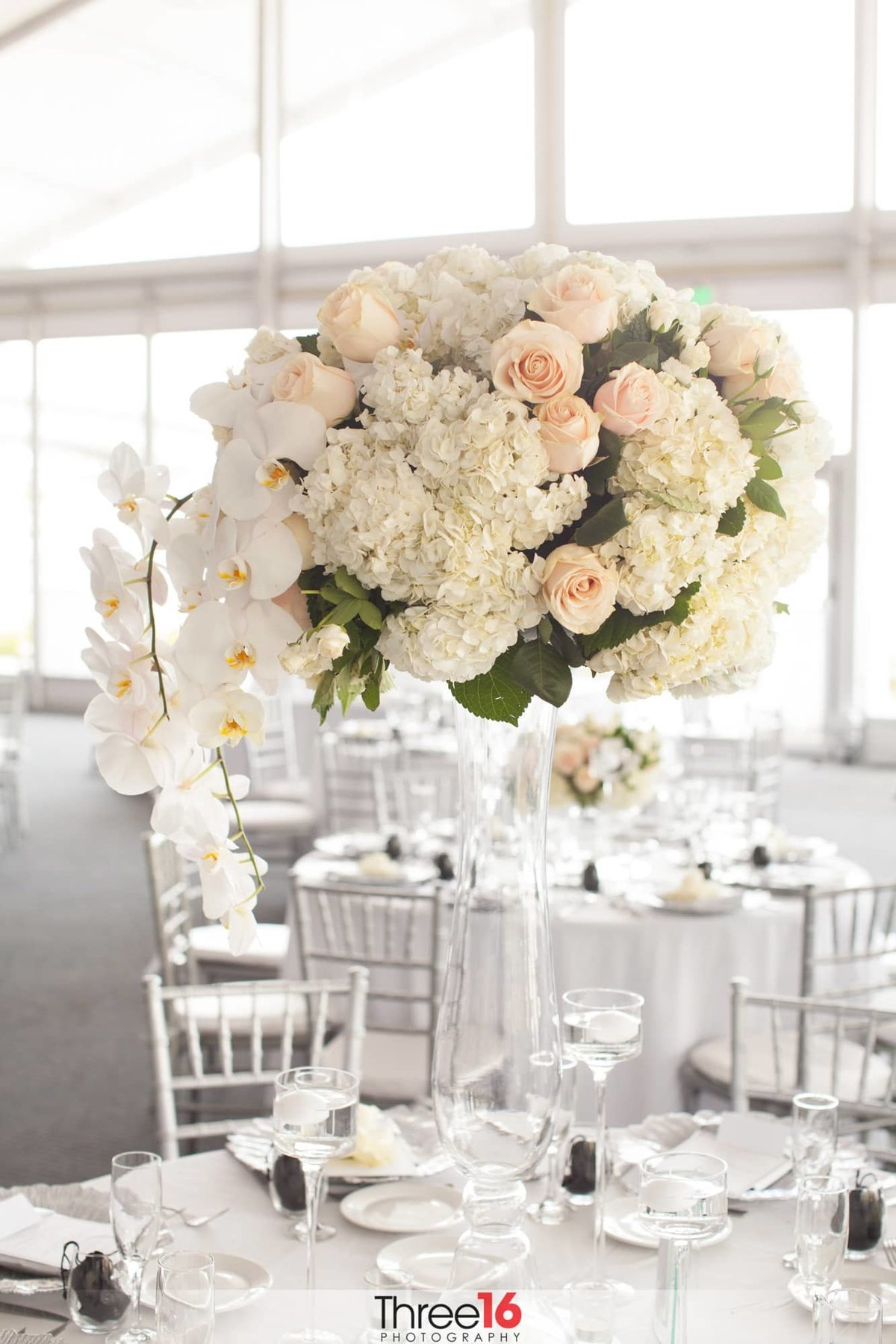 Centerpiece for wedding reception table