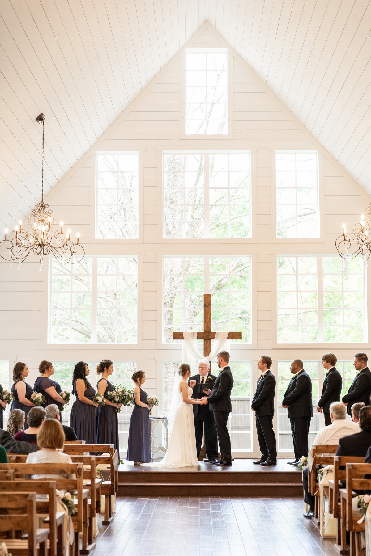 Bride and Groom During Ceremony at The Carriage House