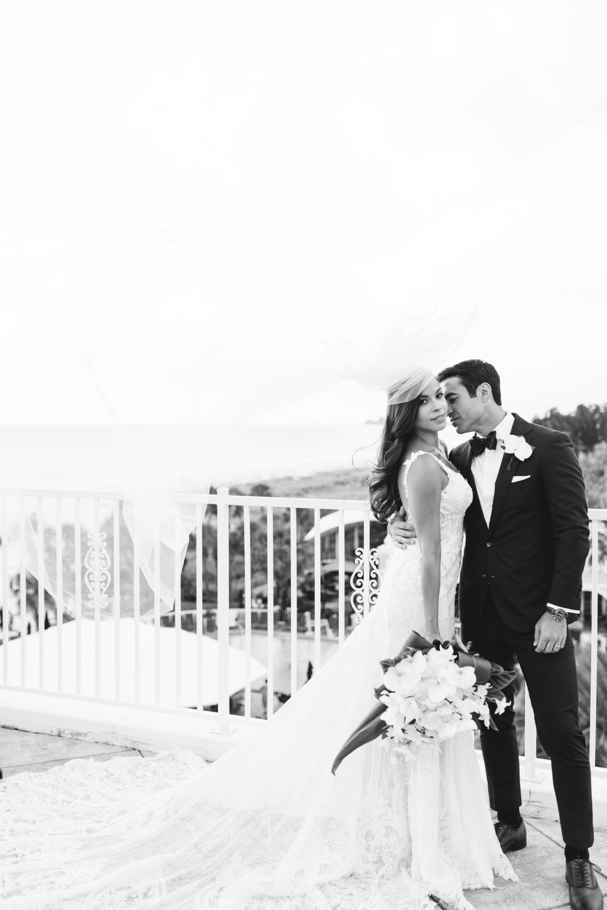 Bride & groom at Don Cesar